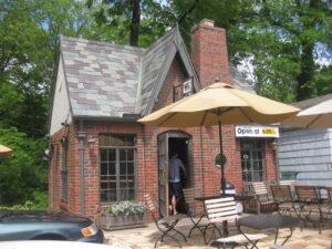 brick tudor coffeehouse