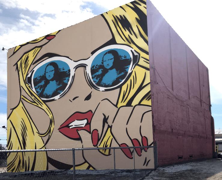 building mural in Rogers