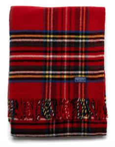 tartan red throw