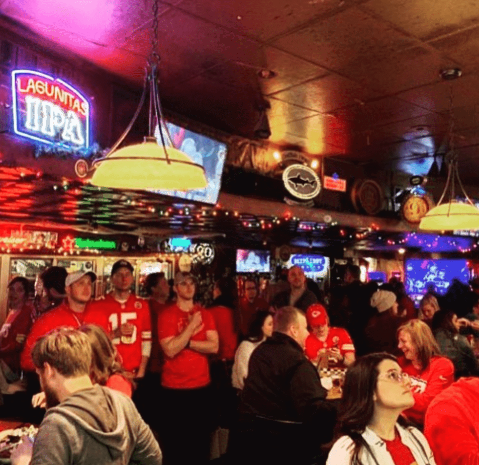 Chief Fans Watch Game at Charlie Hoopers Sports Bar