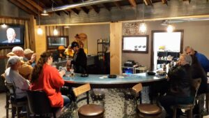curved bar in The Jockey Club