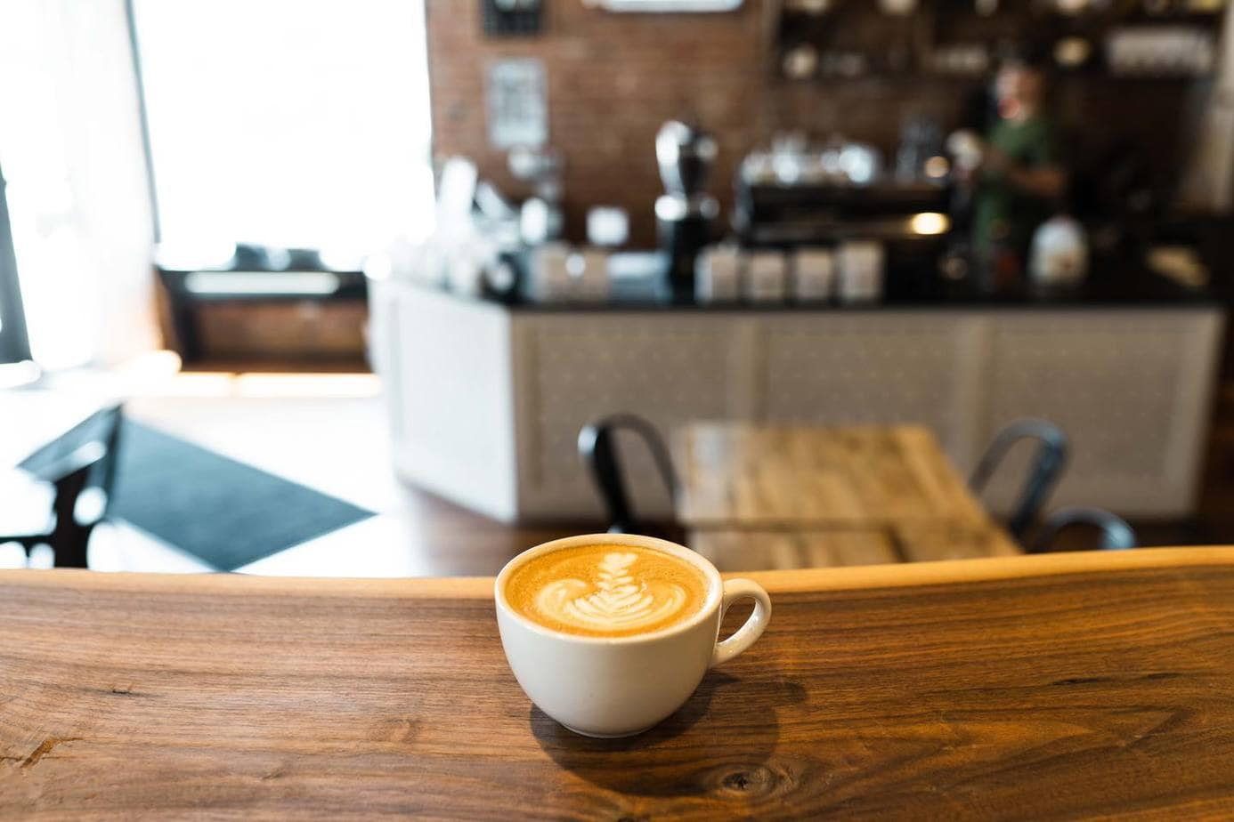 A cup of espresso is ready for guests at Splitlog Coffee in Kansas City